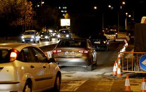 La ronda de Outeiro quedó abierta al tráfico a última hora de la tarde de ayer.