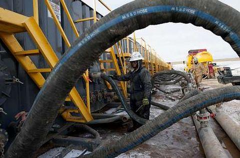 En EE.?UU. -Dakota del Norte, en la imagen-, el «fracking» ha reducido la dependencia energética.