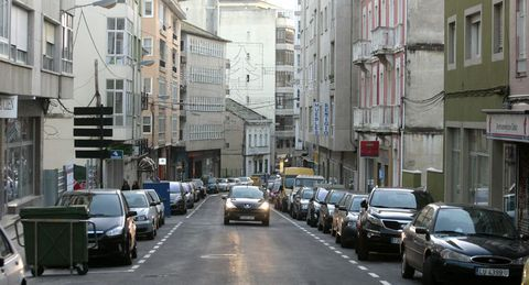 En las calles más céntricas de Foz también abrirá hoy el comercio.