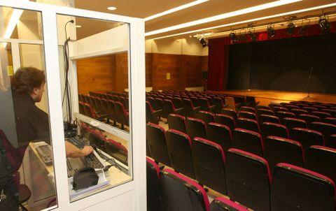 Imagen de archivo de la sala de representaciones vacía, tal y como se encontró ayer mismo.