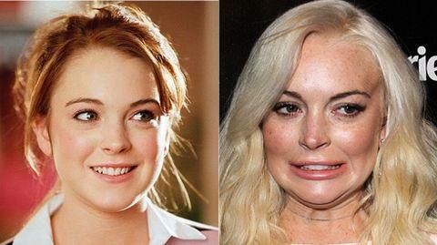 La joven actriz Lindsay Lohan