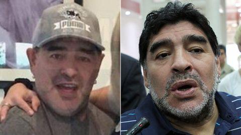Una foto reciente muestra a un Maradona irreconocible.