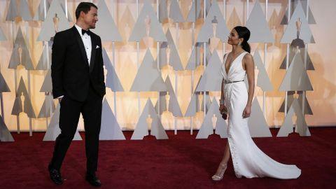 Channing Tatum con su esposa