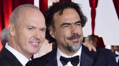 Michael Keaton con González Iñarritu