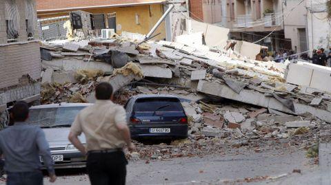 Efectos del terremoto de la localidad murciana de Lorca en el 2011.