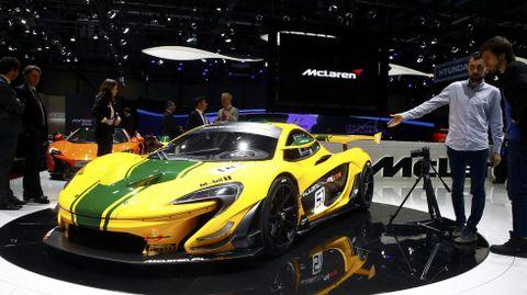 El nuevo McLaren P1 GTR, presentado en Ginebra.