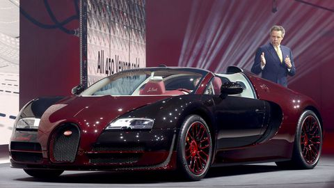 El Bugatti Veyron Grand Sport Vitesse La Finale, otra de las estrellas del Salón de Ginebra.