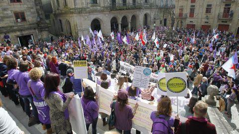 Marcha en Santiago
