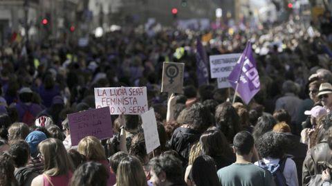 Marcha de mujeres en Madrid