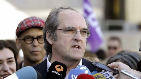 Ángel Gabilondo, en las marchas de Madrid