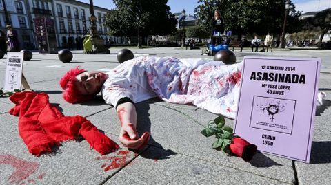Protesta en Lugo contra la violencia machista