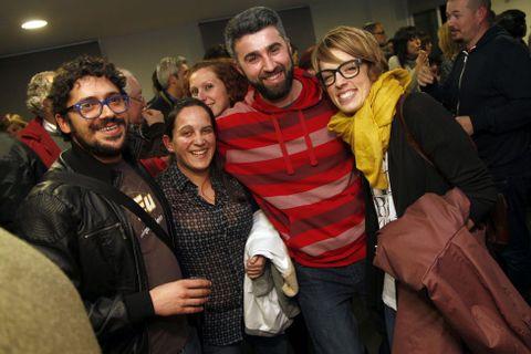 Nacho Rodríguez, Ketty Paisal y Sonia Lebedynski.