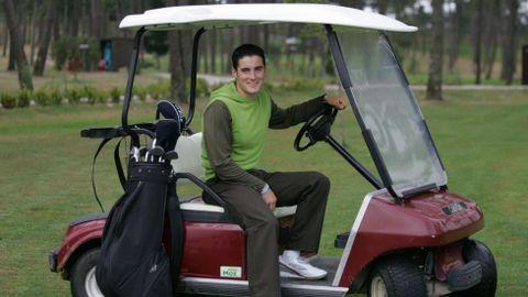 En el campo de golf de Meis (2005).