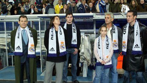 Saque de honor en el Bernabéu del Real Madrid 6-Albacete 1. Septiembre del 2004.