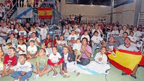 El puerto de Aldán se quedó pequeño para animar a su vecino más ilustre durante las pruebas olímpicas en las que participó Cal en los Juegos de Pekín.