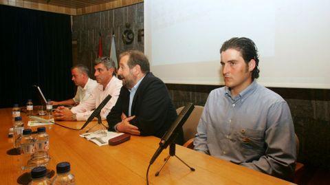 Conferencia en Lugo, en el 2006l.