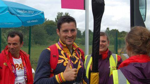 David Cal, en Londres, durante los Juegos de la capital británica.