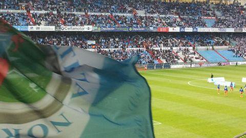 Su bandera, ondeando en un derbi disputado en Balaídos.