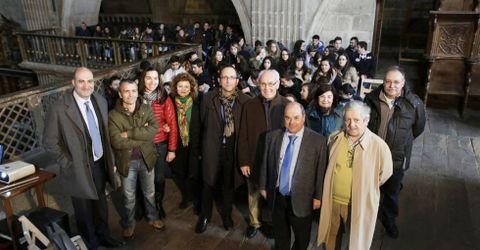 Ayer se estrenó el nuevo ciclo de conciertos de órgano para estudiantes en el Mosteiro de Celanova.