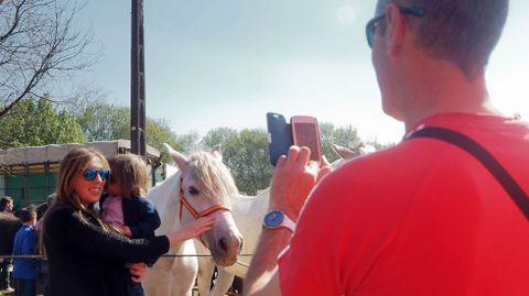 Decenas de miles de personas abarrotaron las elegantes exhibiciones de caballos en la plaza portátil instalada en el campo de A Barca o en el mercadeo de todo lo relacionado con el ganado equino, en su exterior.