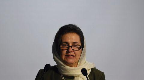Rula Ghani, la primera dama de Afganistán.