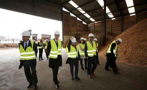 Una imagen de la visita a Biomasa Forestal.
