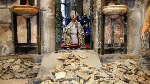 La Puerta Santa de la catedral se abrió por última vez el 31 de diciembre del 2009, coincidiendo con el inicio del último año Xacobeo.