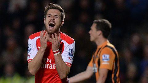 Ramsey, en el partido contra el Hull del lunes