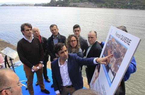El candidato detalló en San Felipe el proyecto para mejorar la comunicación al castillo.