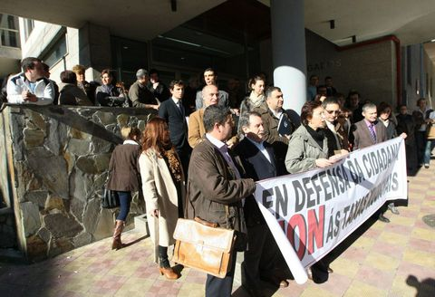 Imagen de una de las protestas que se realizaron en Ferrol contra las reformas de Gallardón.