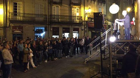 Cierre de campaña del candidato del PSdeG-PSOE a a alcaldía de Ourense, José Ángel Vázquez Barquero