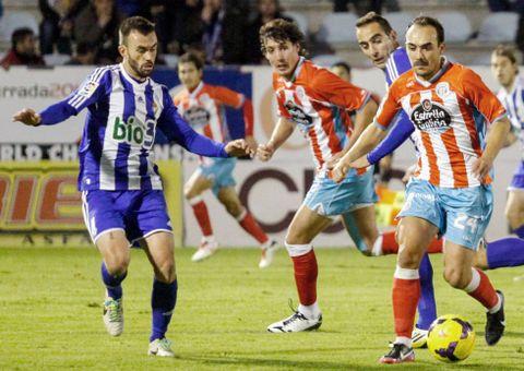 Iván Pérez y Sandaza, en el último triunfo en Ponferrada.