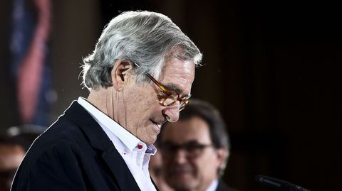 BARCELONA. El actual alcalde de la Ciudad Condal, Xavier Trias, tras reconocer su derrota en los comicios.