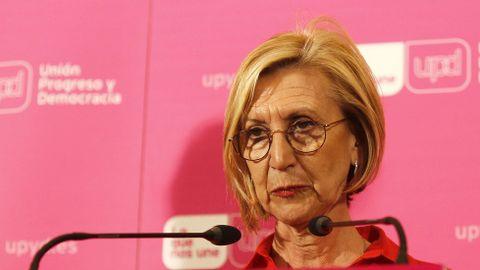 Rosa Díez, portavoz de UPyD, tras el fracaso de la formación en las autonómicas y municipales ha anunciado que no será candidata en el Cosnejo de Dirección