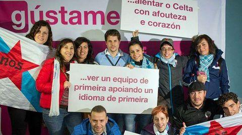Participando da iniciativa 'Gústame o galego' en Balaídos.