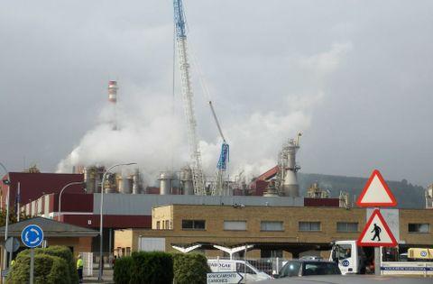La fábrica de celulosa de Ence Navia
