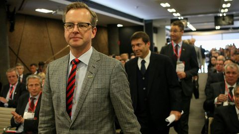 El ministro sueco de Industria, Comercio e Innovación, Mikael Damberg.
