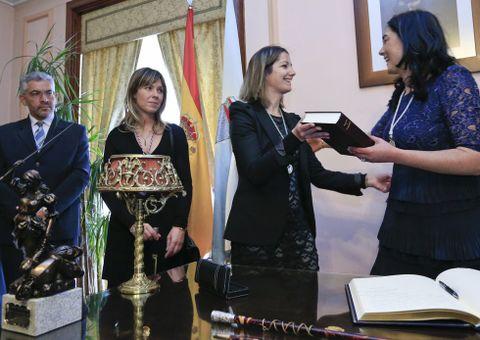 Las alcaldesas de Lugo y Mondoñedo, ayer dos de las protagonistas.