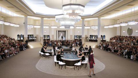 El «Grand Palais» de París convertido en un gran casino para inspirar la nueva colección de Chanel