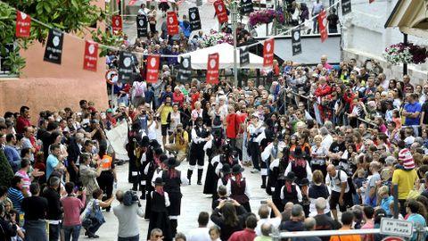 Desfile de bandas durante el Festival de Ortigueira del año pasado
