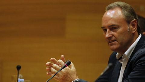 El expresidente valenciano, Alberto Fabra, cobrará un sueldo de 61.262 euros en el Senado