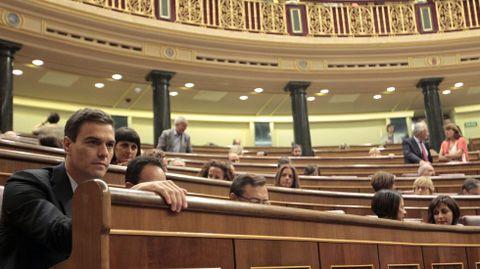 Bancada socialista durante un pleno del Congreso