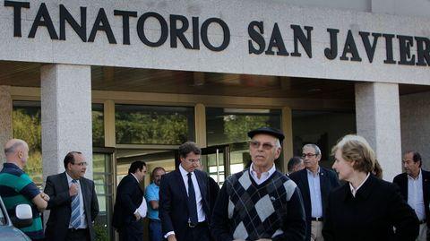 Feijoo mostró su solidaridad a las familias de los fallecidos en Carral.