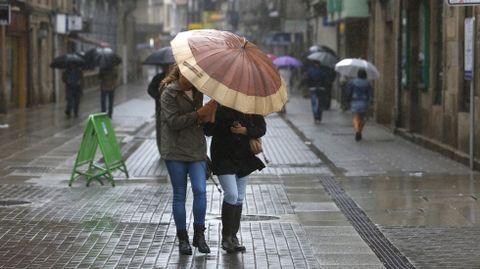 Día de lluvia en Pontevedra
