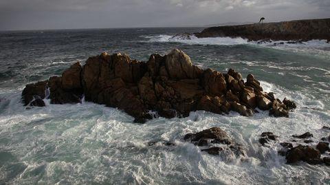Temporal en el mar de A Coruña.
