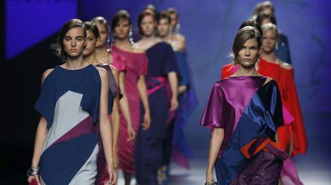 Las modelos con las creaciones de Ulises Mérida
