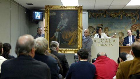 Venta de un Velázquez en una casa de subastas de Madrid.