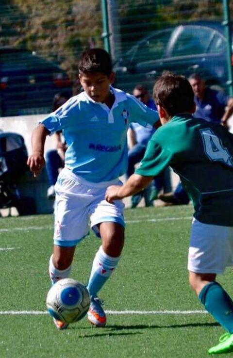 El teixugo Ares Outeiral juega en las categorías inferiores del club