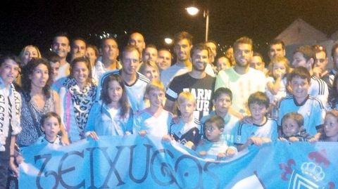 Álex López, Segio Álvarez y Bojra Iglesias acudieron en su día a la inauguración de Teixugos