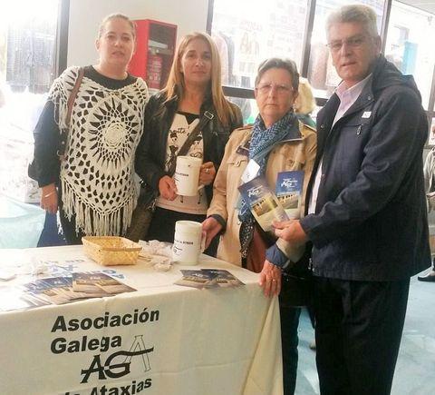 Fernández y Doldán, ayer,  con responsables de la AGA.